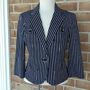 Carlisle navy striped blazer